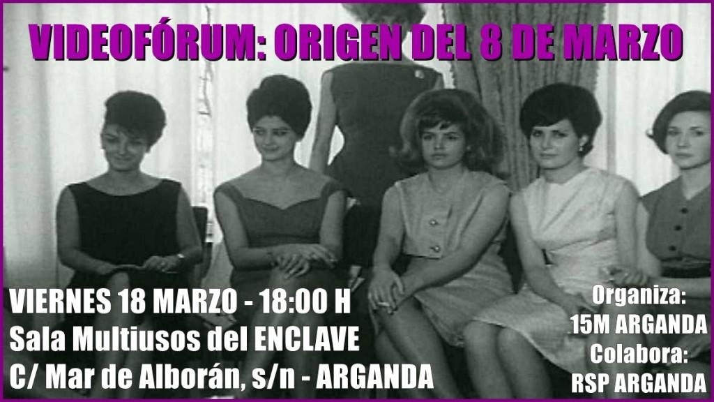 Cartel videoforum Mujer 18-03-2016