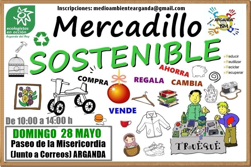 Cartel Mercadillo Sostenible 28/05/2017 Arganda